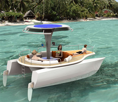 solar powered boat
