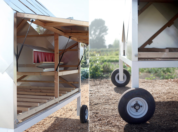 Solar Powered Chicken Caravan by Designers On Holiday (DOH)