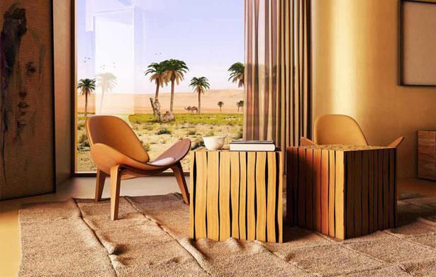 Solar-powered Desert Retreat by Baharash Architect