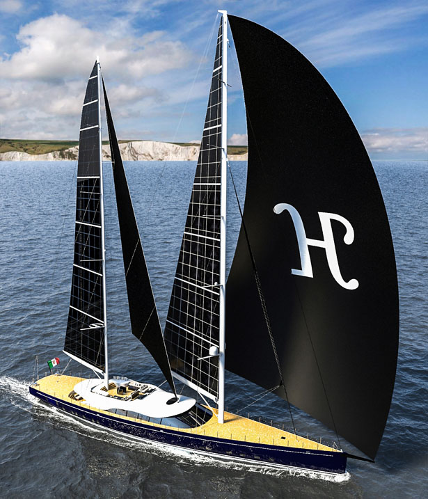 Solar Powered Sailing Yacht Helios by Marco Ferrari and Alberto Franchi