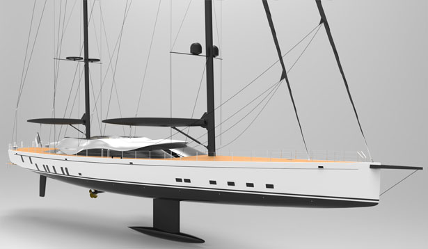 Solar Powered Sailing Yacht Helios Concept for Young Designer of the Year 2015