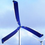 Solar Powered Wind Turbine With A New Set Of Spinning Solar Blades