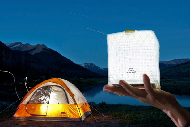 Solarpuff: Solar-Powered Inflatable Cube by Solight Design