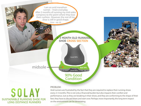 solay re-use running shoe