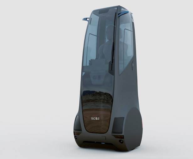 SOLE Stand-Up Car for Solo Commuters by Alaina Mickes and Boqiang Su