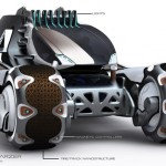 SOLENOPSIS Race Vehicle for 2085 by Borka Schwarzer