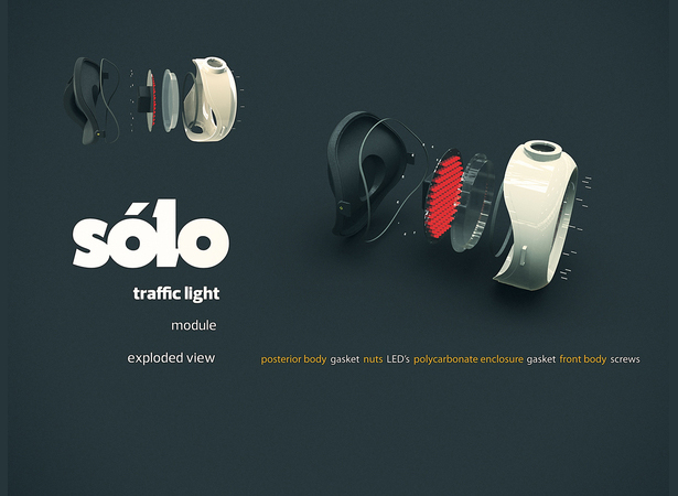 Modular Solo Traffic Light by Matheus Pinto