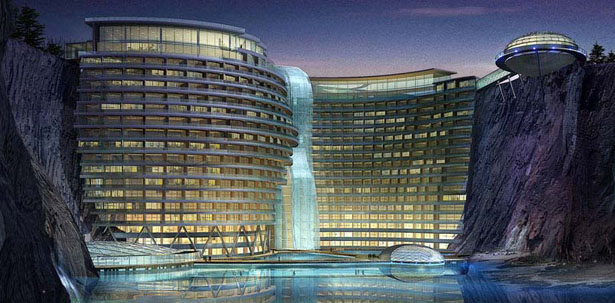 Stunning songjiang hotel project takes advantage of for Hotel design concept