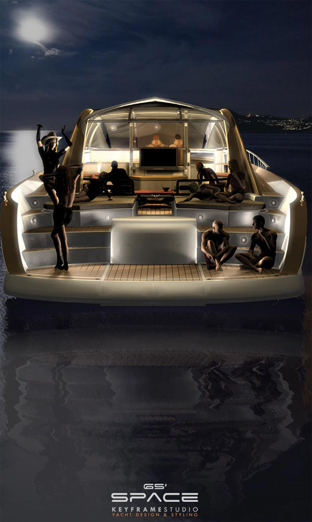 The Engine Room Design: Space65′ Yacht : Timeless Yacht Design That Features Huge
