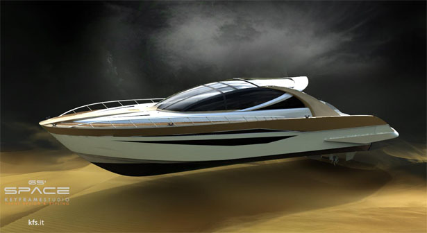 Space65′ Yacht : Timeless Yacht Design That Features Huge Transparency Glass Dome
