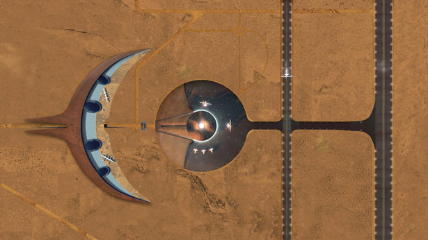 Spaceport America Design Proposal by James Law Cybertecture
