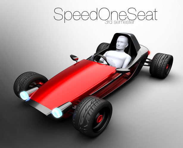 SpeedOneSeat Concept Vehicle by Hannes Fiechtner