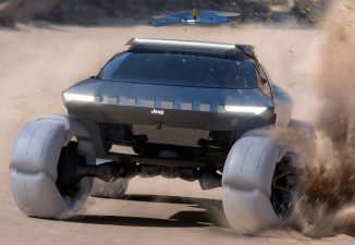 Jeep Spider Off-Road Vehicle with Built-in Drone by Wayne Jung