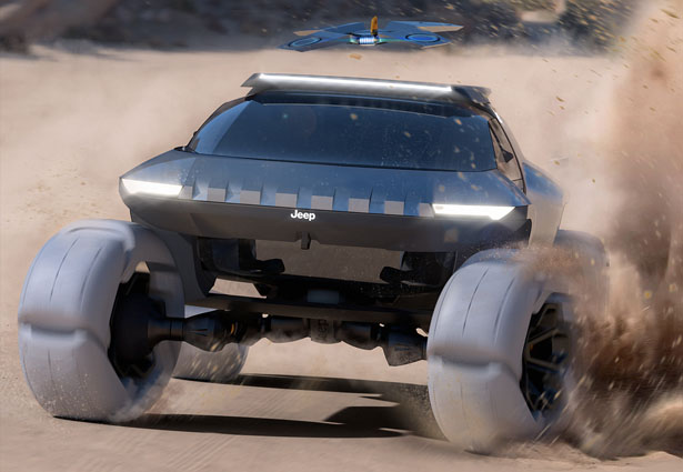Jeep Spider Off-Road Vehicle with Drone by Wayne Jung