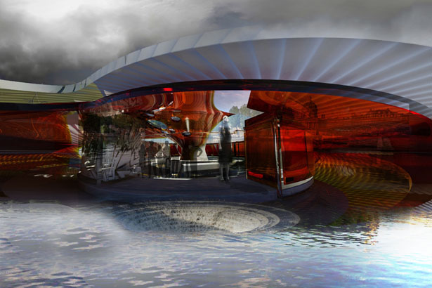 Spillway Pavilion Bar by Margot Krasojevic