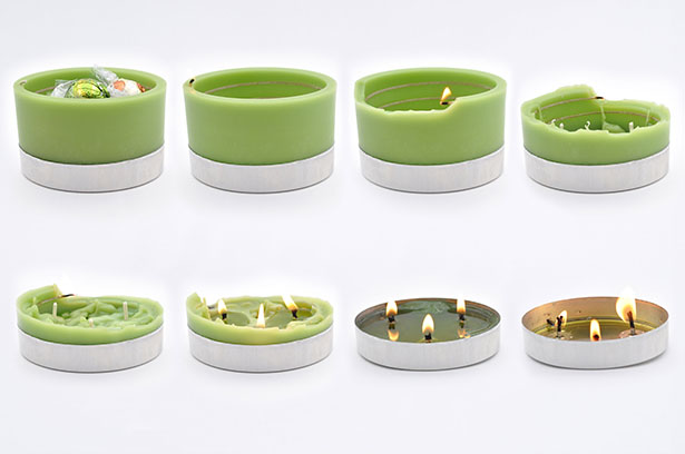 Spiral Candles as Eco-Packaging by Spiral Melt