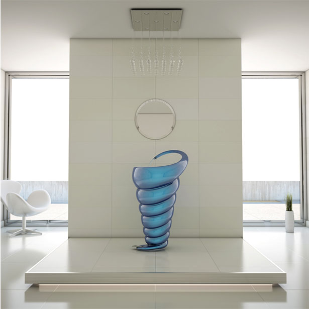Spiral Washbasin by Naser Nasiri and Taher Nasiri