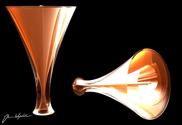 Sprial Glass Vase Design by Johan Wejedal