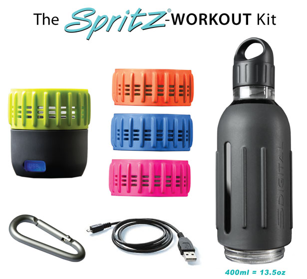 SPRITZ Sports Water Bottle with Integrated Wireless Speaker by Manoj Sabnani