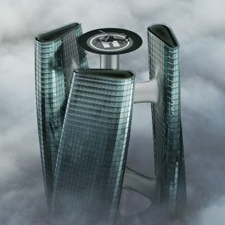Squall Tower is a Futuristic Inspired Vertical Wind Turbines Skyscraper Concept