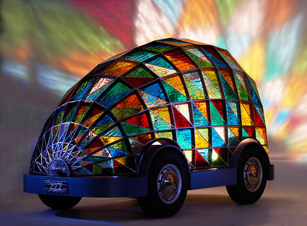 Stained Glass Driverless Sleeper Car by Dominic Wilcox