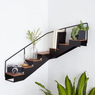 Unique Staircase Corner Shelf Takes Your Wall Decor To The Next Level