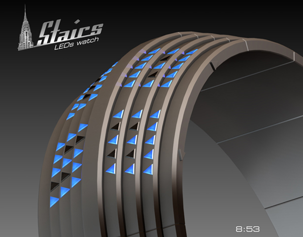 Stairs LED Watch Concept by Patrick