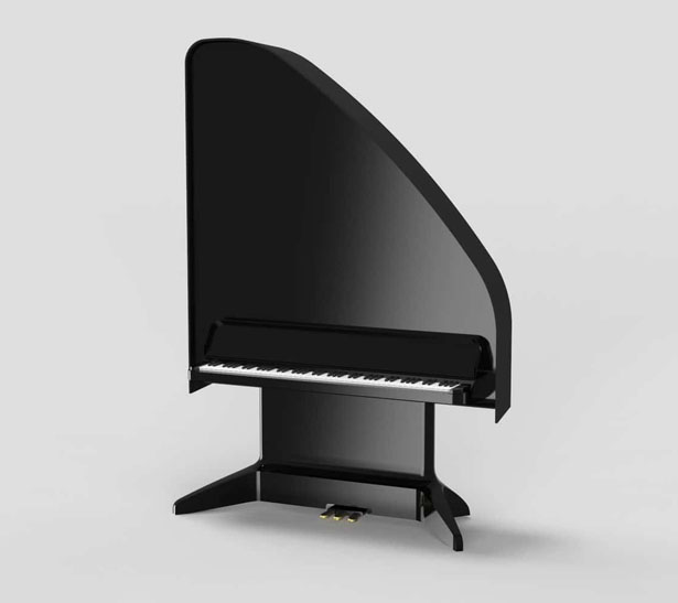 Future Piano Standing Grand Offers Light, Portable, Acoustic Piano by Sarah Nicolls