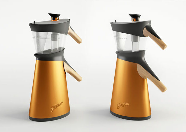 Steam Stove Top Tea Maker by Hakan Gursu