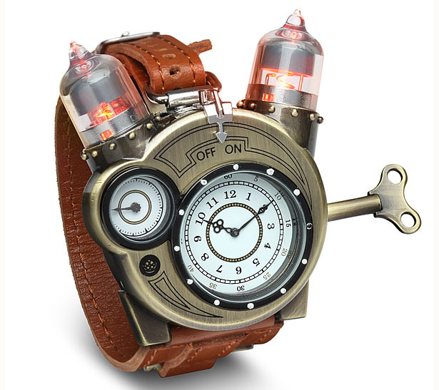 Cool Tesla Steampunk Styled Analog Watch