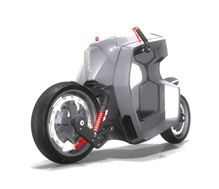 Stinger Concept Bike Combines A Scooter and A Motorbike