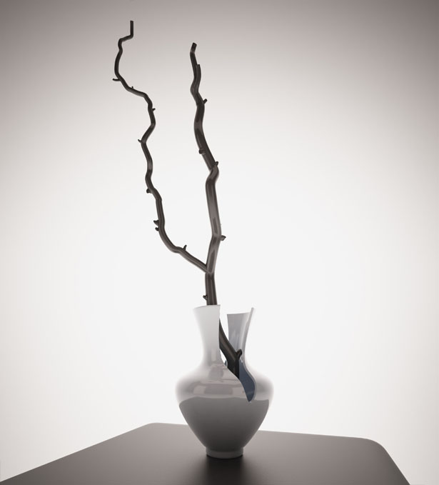 Stone Branch LED Lamp by Ann Baldina