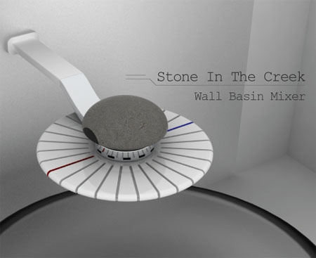 Stone In The Creek : Wall Basin Mixer Concept Saves Water In Efficient Way