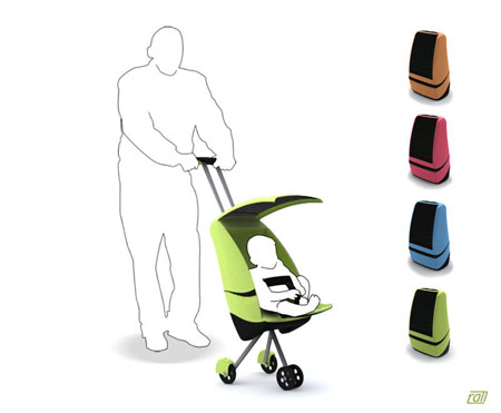 Stow Away Stroller Converts  Itself To The Proper Dimensions of Your Carry-On Luggage