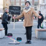 Street Debaters Evoke a Friendly Discussion with Strangers While Collecting Coins