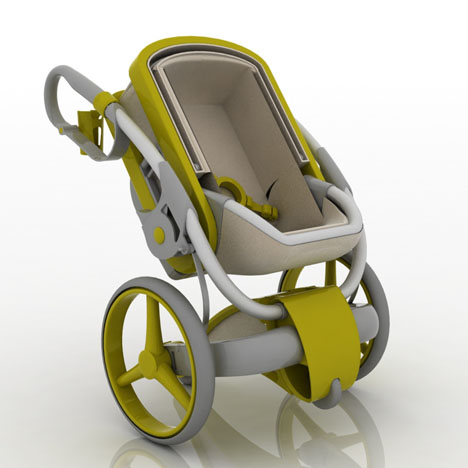 Bumbel stroller by ascanio afan de rivera tuvie for Mercedes benz baby pram