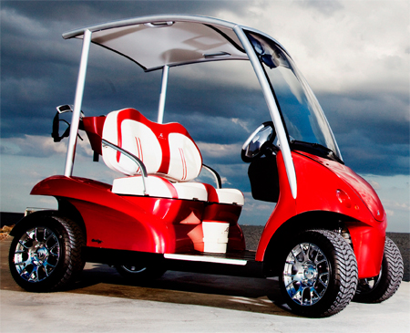 stylish and luxury garia golf car