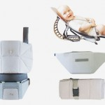 Suki Baby Carrier Turns Into A Baby Rocker with A Simple Add-On