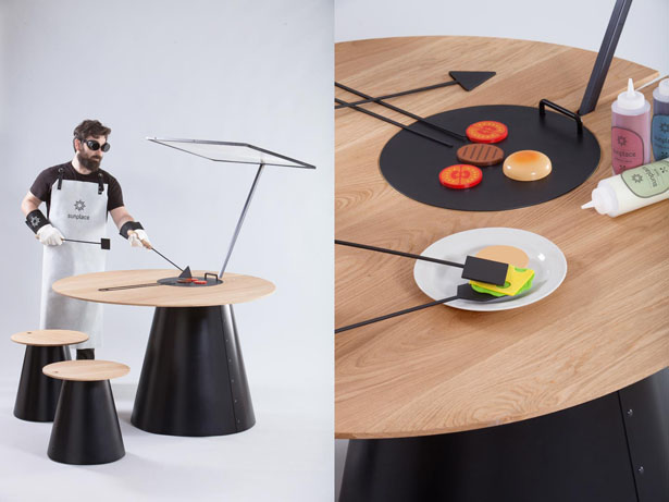 SunPlace Solar Cooking Table and Set by Lanzavecchia + Wai