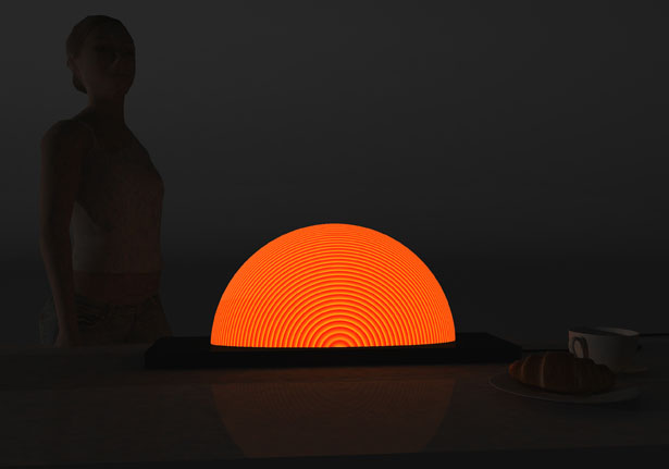 Sunrise Lamp by Natalia Rumyantseva