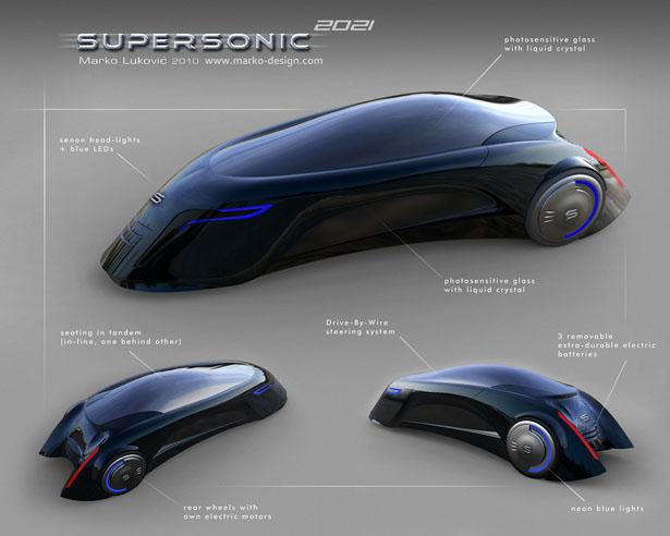 Supersonic Futuristic Car for 2021