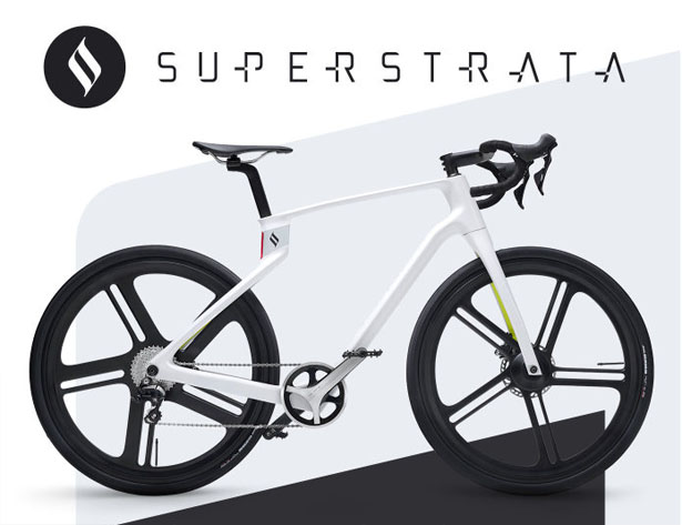 Superstrata 3D-printed Unibody Carbon Fiber Bicycle