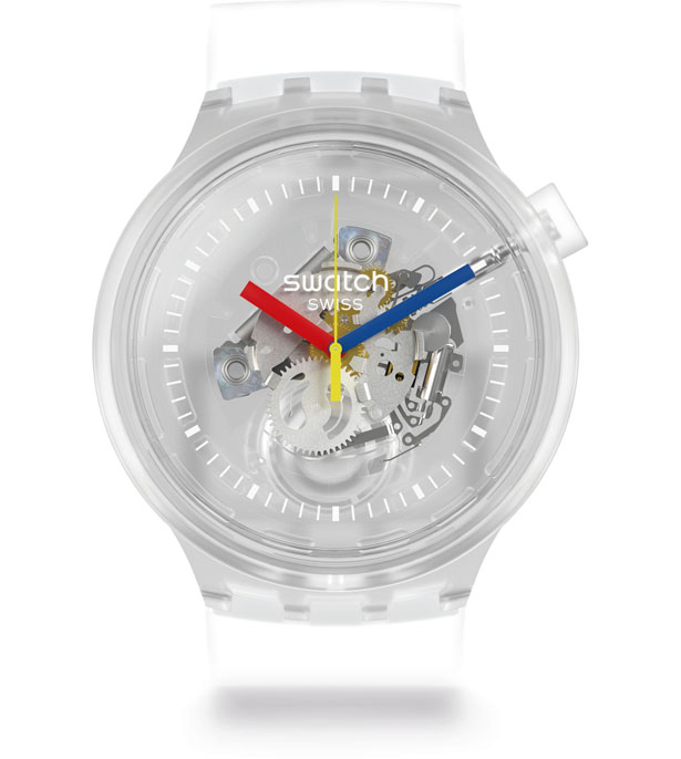 Swatch Big Bold Jellyfish Transparent Watch
