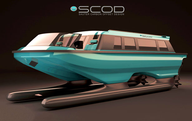 Swath Electra Glid Megayacht Tender by Sauter Carbon Offset Design