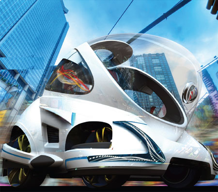 Swing Beginner Futuristic Car Enables The Novice Drivers To Drive Like Walking In The Park