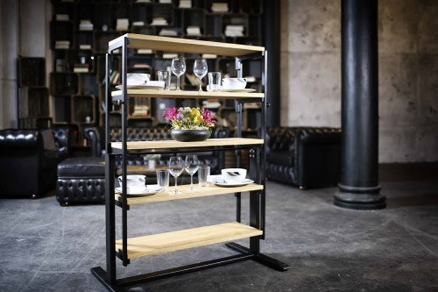 Swing Furniture - From Shelves to Table in A Second by German Smart Living