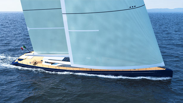 S/Y Blue Sapphire Sailing Yacht by Marco Ferrari and Alberto Franchi