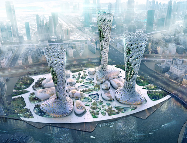 The Symbiotic Towers by Amorphous Studio