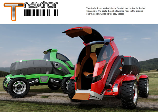 T-Rextor: Modern Agriculture Concept Tractor by Saharudin Busri