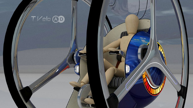T-Velo Concept : A Combination of A Bicycle and A Car by Adolfo Esquivel
